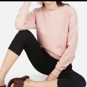 Everlane Pink crop cotton sweatshirt  XS